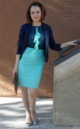 Let's go COLORBLOCK! Sewing and creating: aqua blue