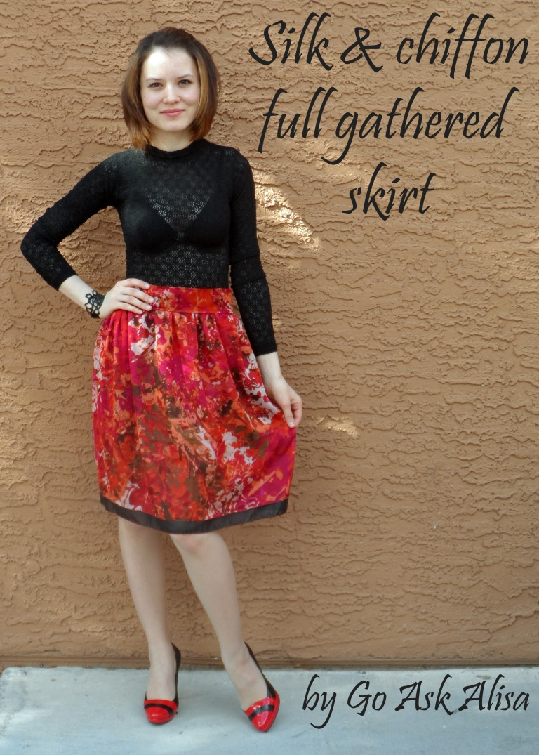 Red skirt cover