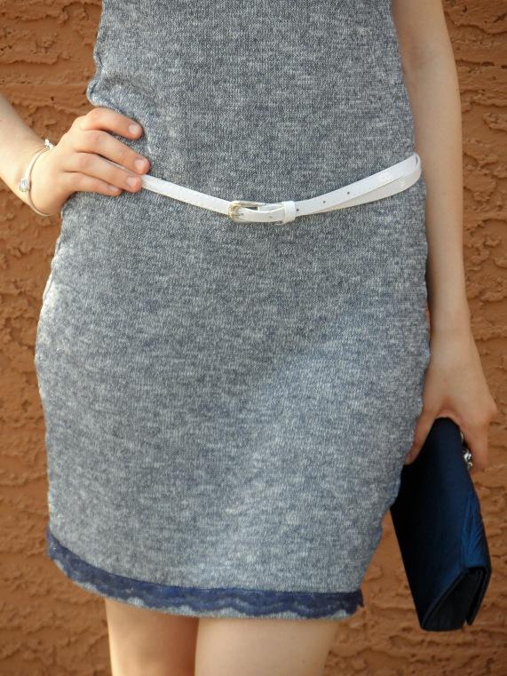 Blue knit dress 5