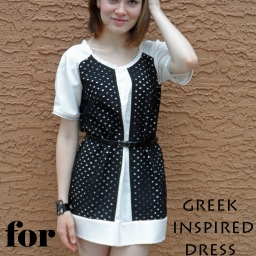 Greek inspired dress for Project Sewn!