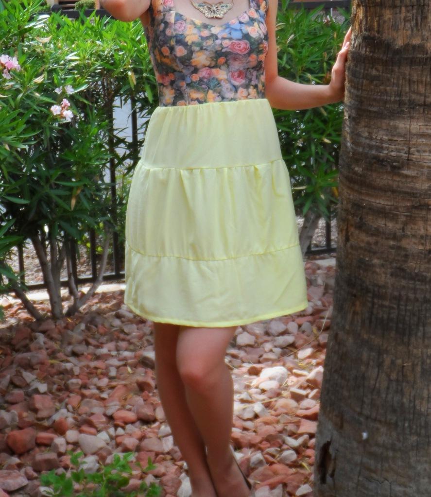 Lemon rose dress 2