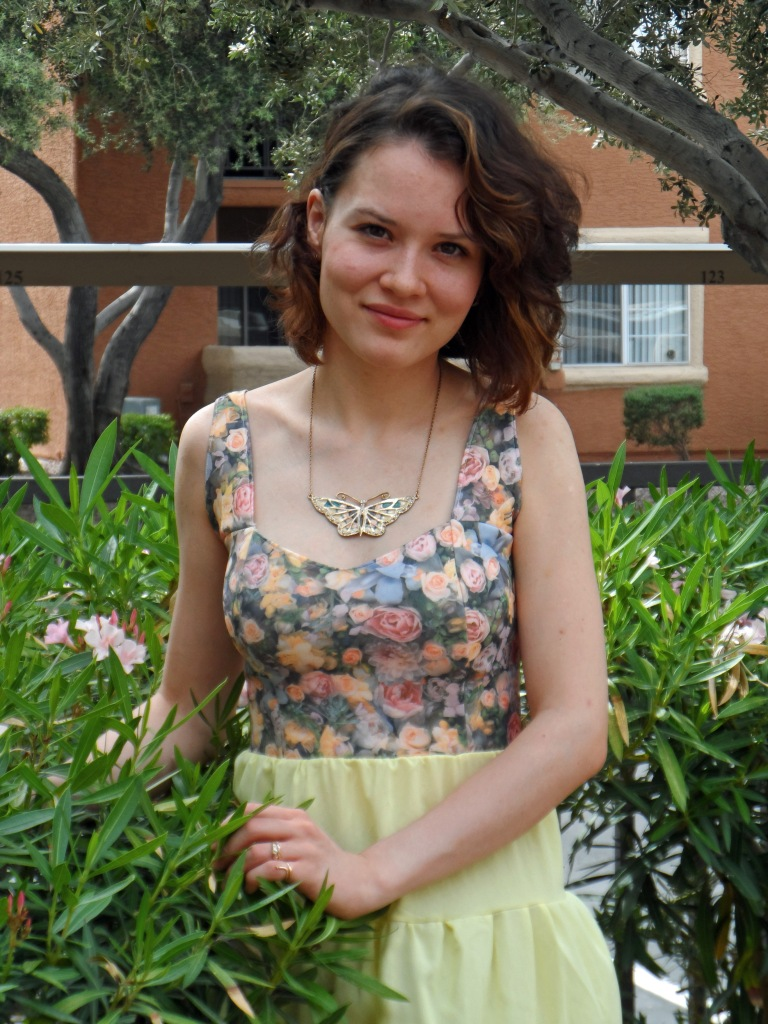 Lemon rose dress 3