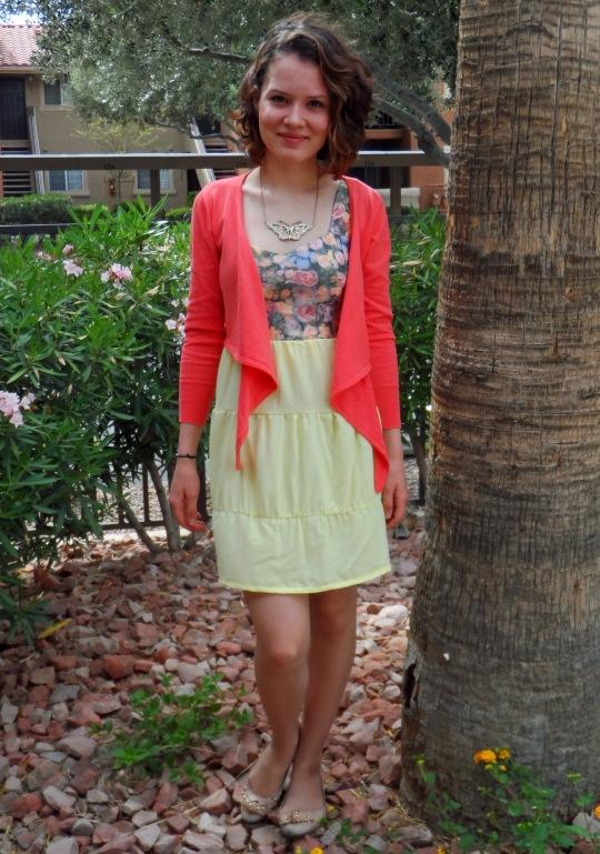 Lemon rose dress 4