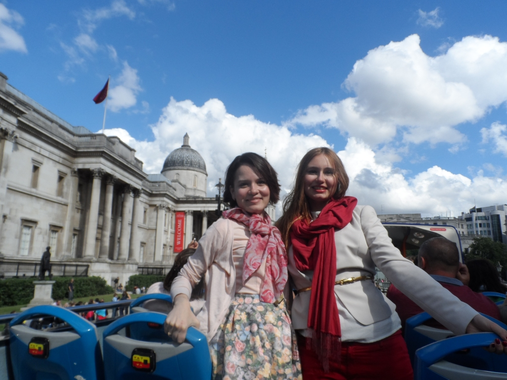 Me and my best friend Nataly in London, 2013