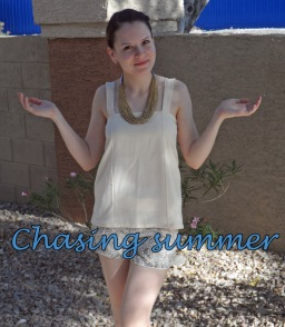 """Chasing summer with Burda's shorts and """"failed"""" skirt turned into a top"""