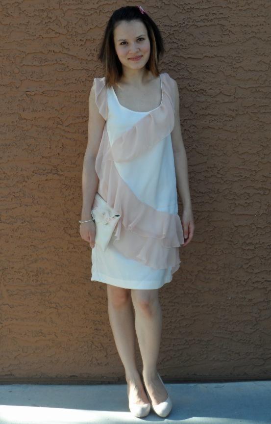 Pink ruffle dress 1