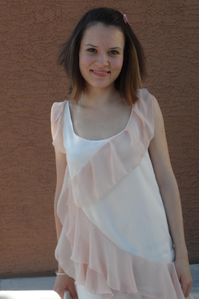 Pink ruffle dress 3