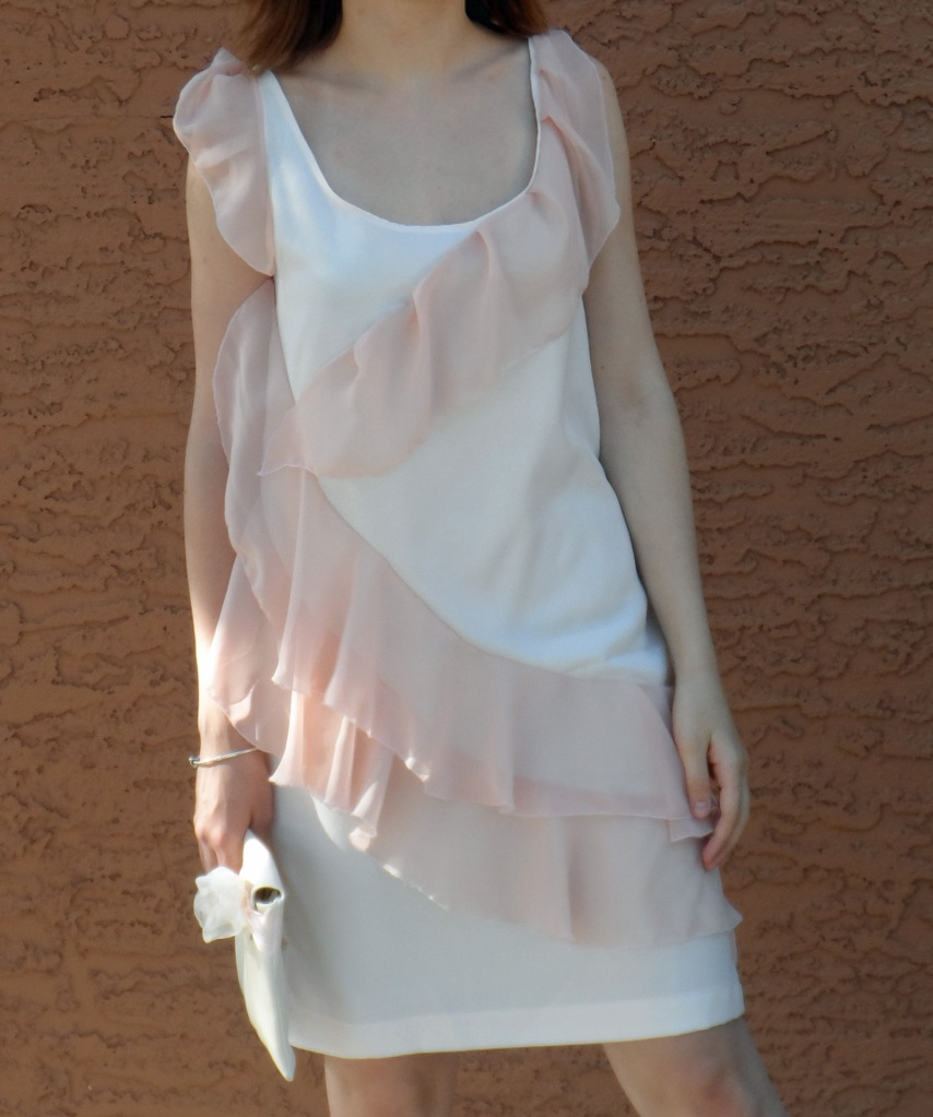 Pink ruffle dress 4