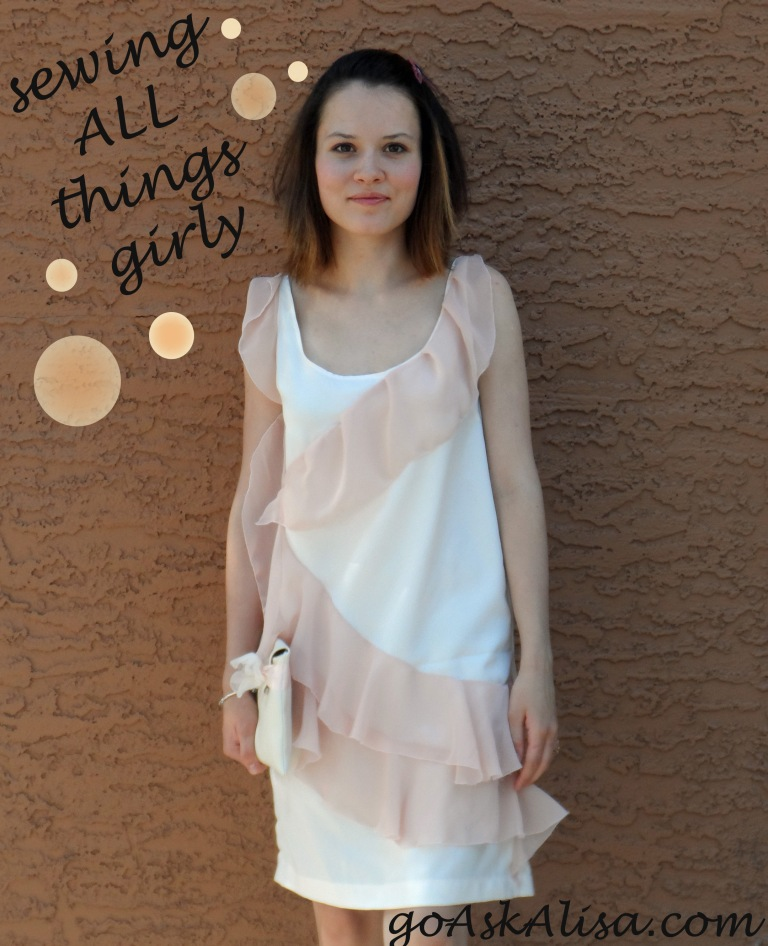 Pink ruffle dress cover