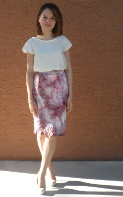 Valentino inspired lace skirt 1