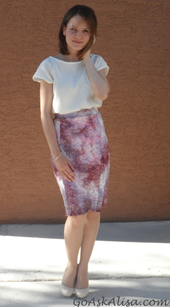 Valentino inspired lace skirt cover