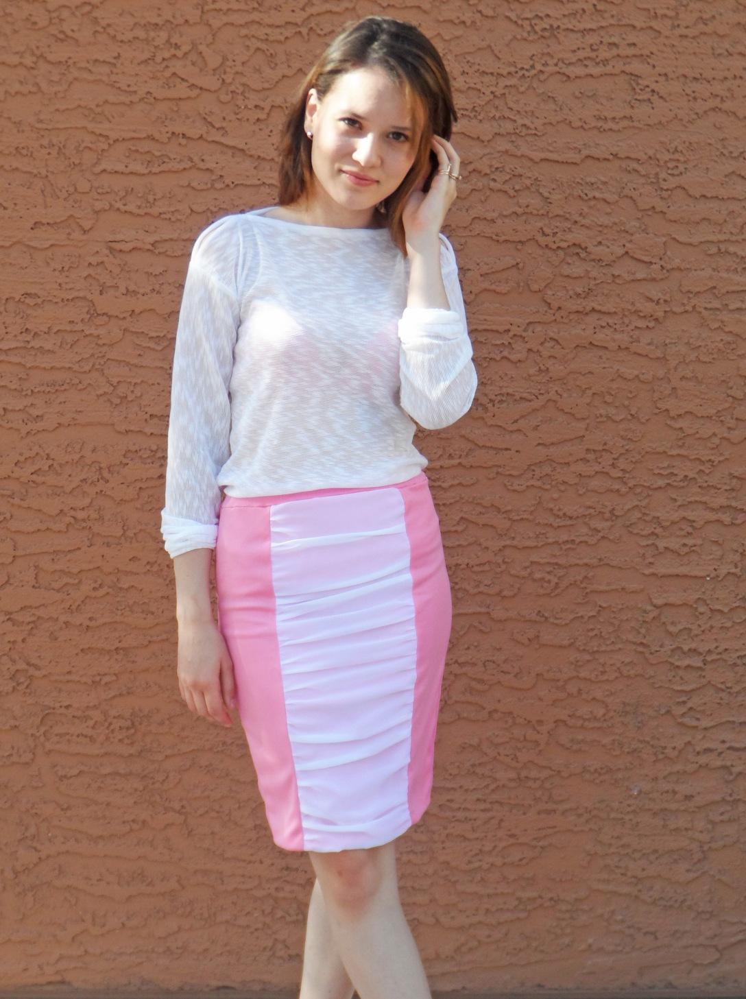 Pink skirt 1