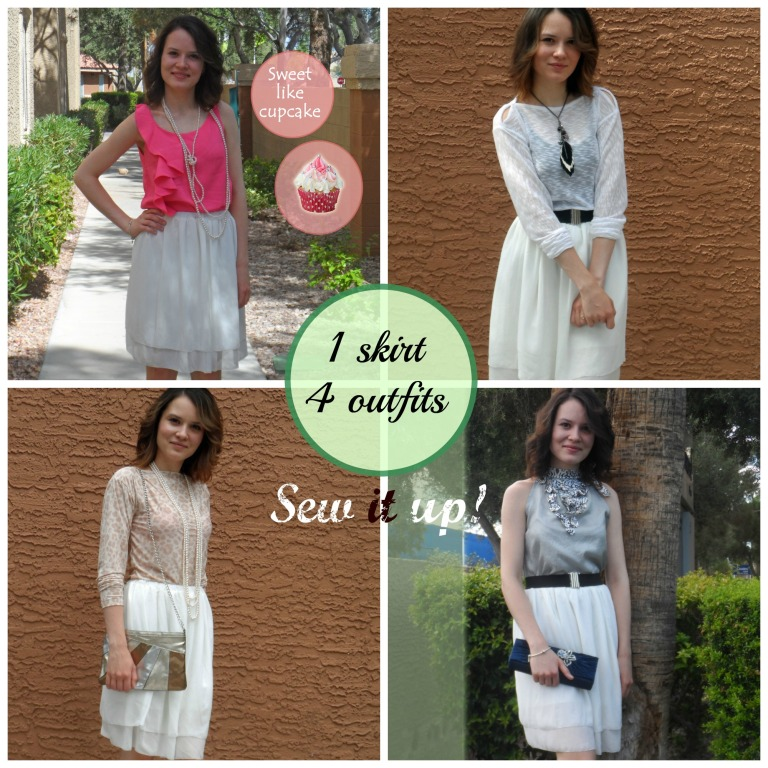 1 skirt 4 outfits