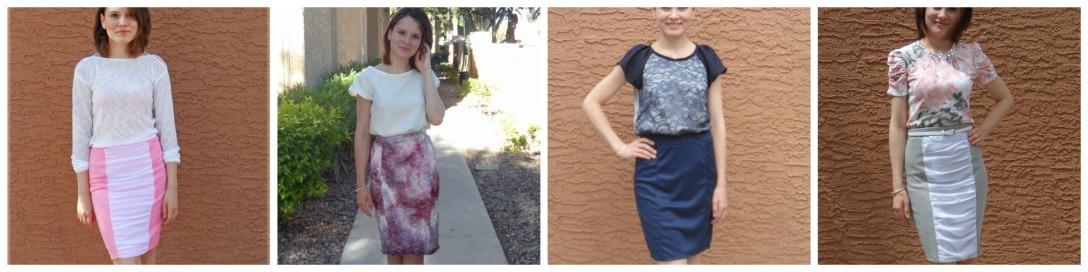 4 skirts 1 pattern
