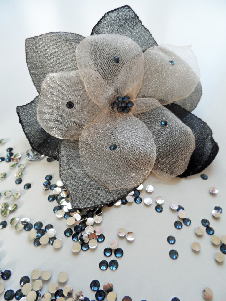 Flower brooch business casual