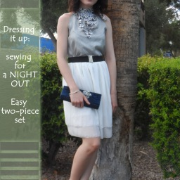 Dress it up for a night out! Sewing and designing evening wear