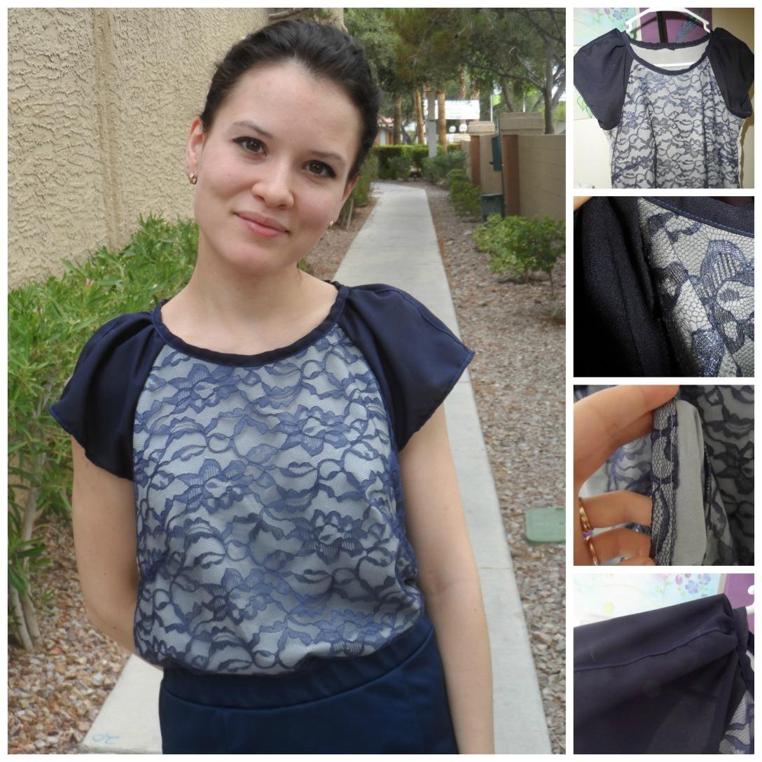 Lace blouse dteailing