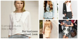 """My Sewing """"to do"""" list – 5 perfect Burda Style patterns for Business casual look"""