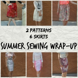 2 patterns = 6 skirts. Summer sewing wrap-up