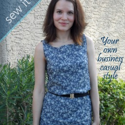Simple dress – sophisticated look! Sew it up!