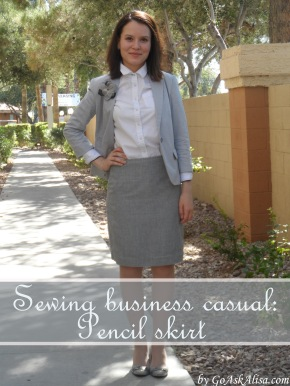 Sewing business casual - pencil skirt