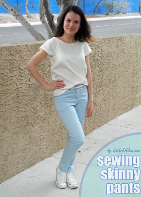 Sewing skinny pants cover 1