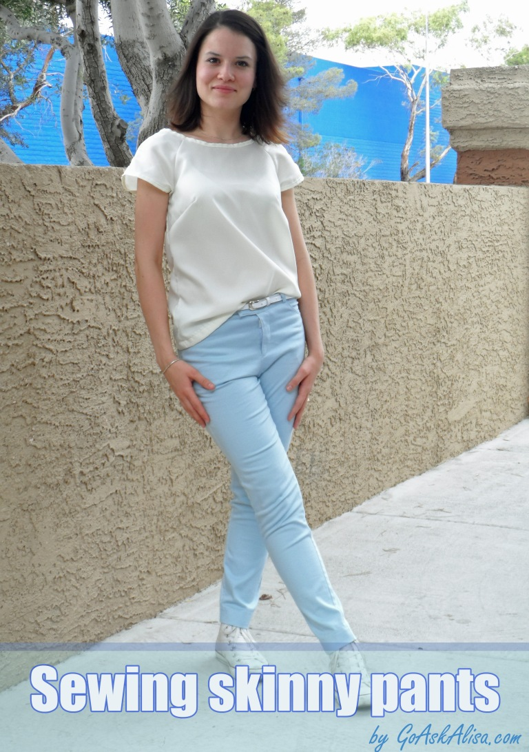 Sewing skinny pants cover