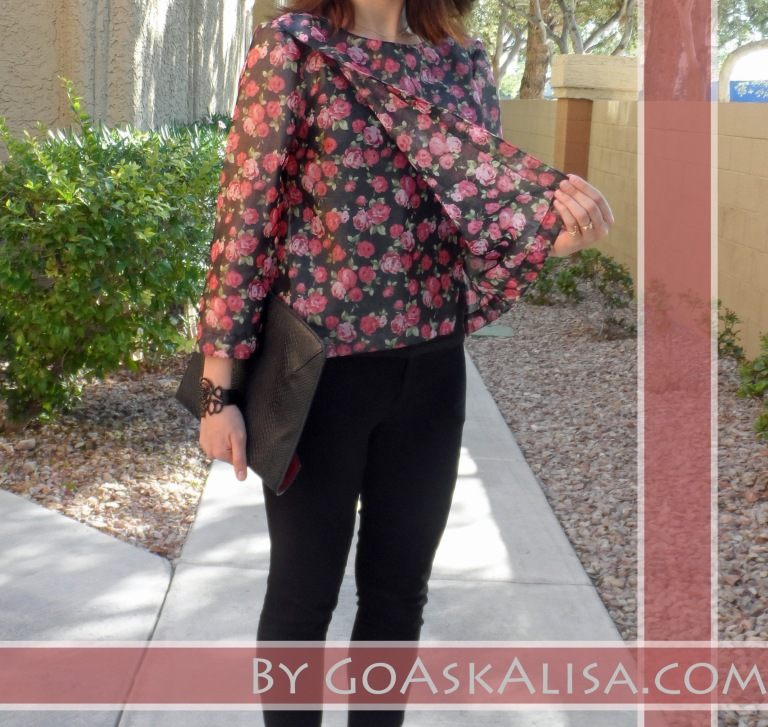 Blouse and pants, pink heels 4