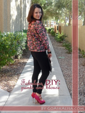 Blouse and pants, pink heels cover 1