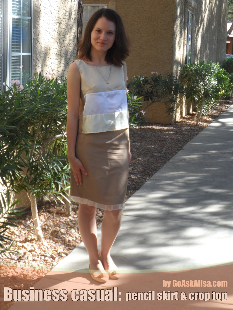 Crop top and pencil skirt cover 1