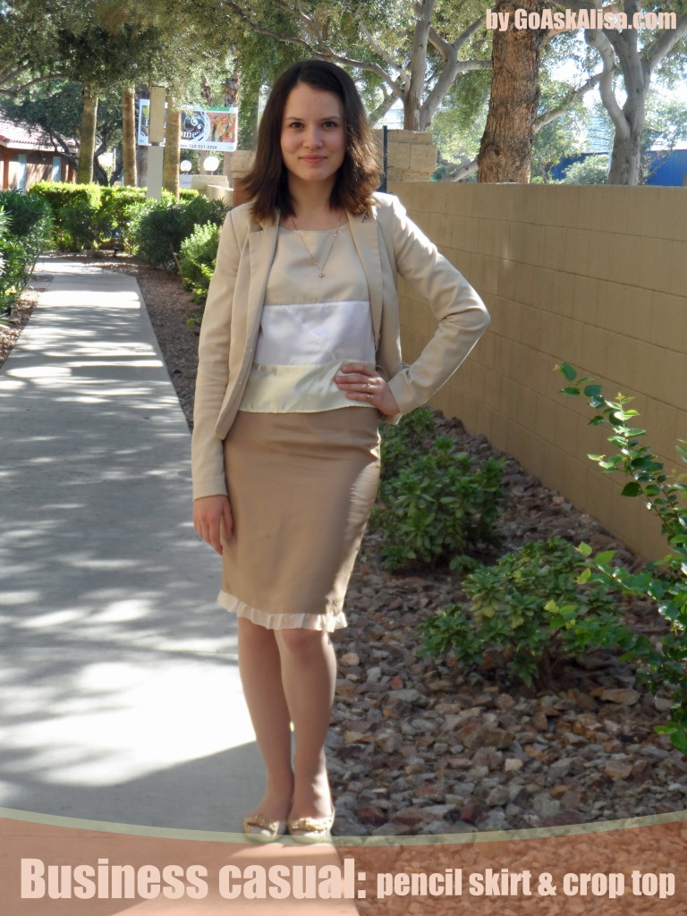 Crop top and pencil skirt cover