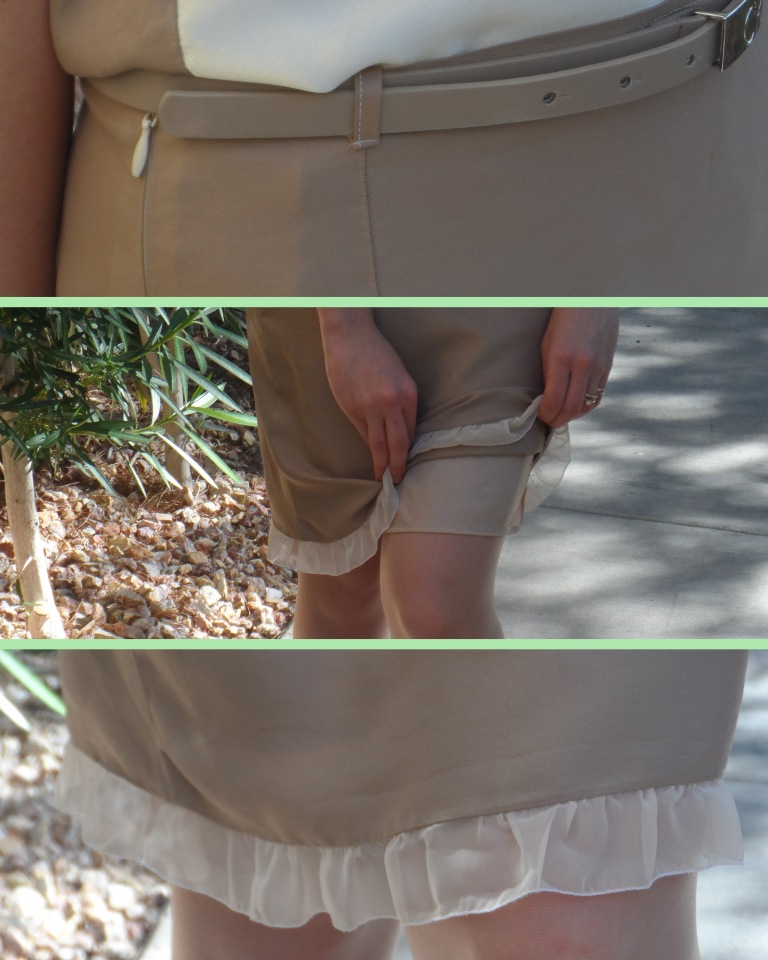 Crop top and pencil skirt details