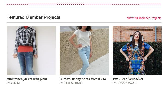 Featured on Burda Style