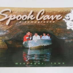 Wordless Wednesday: Spook Cave! Yet another postcard!