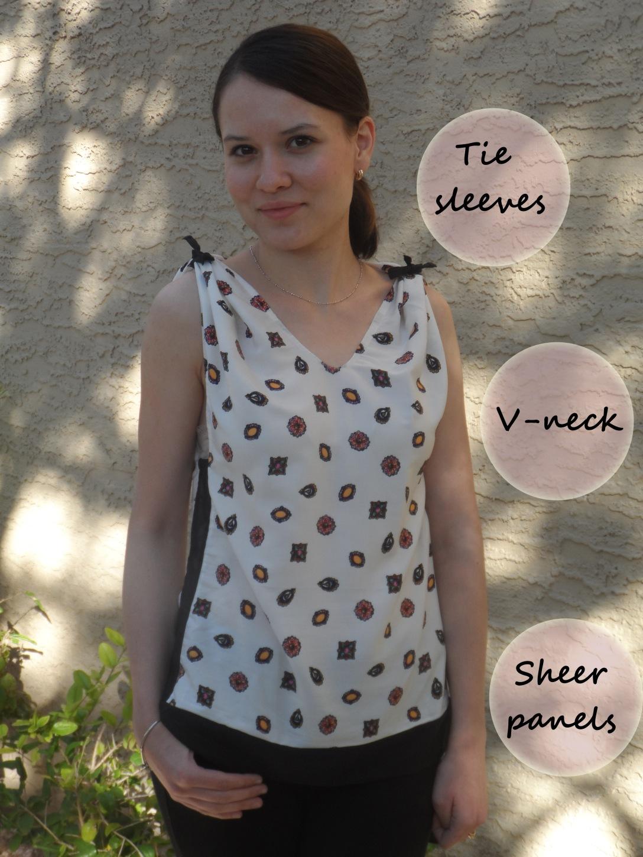 V-neck details