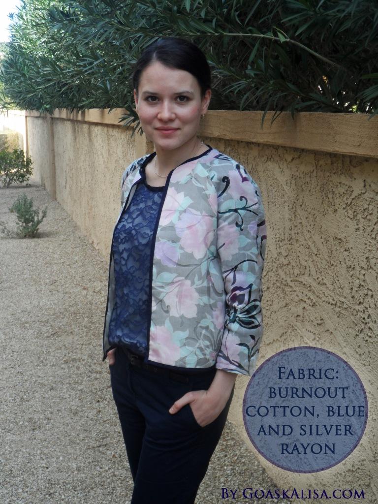 Cropped jacket Burda 2