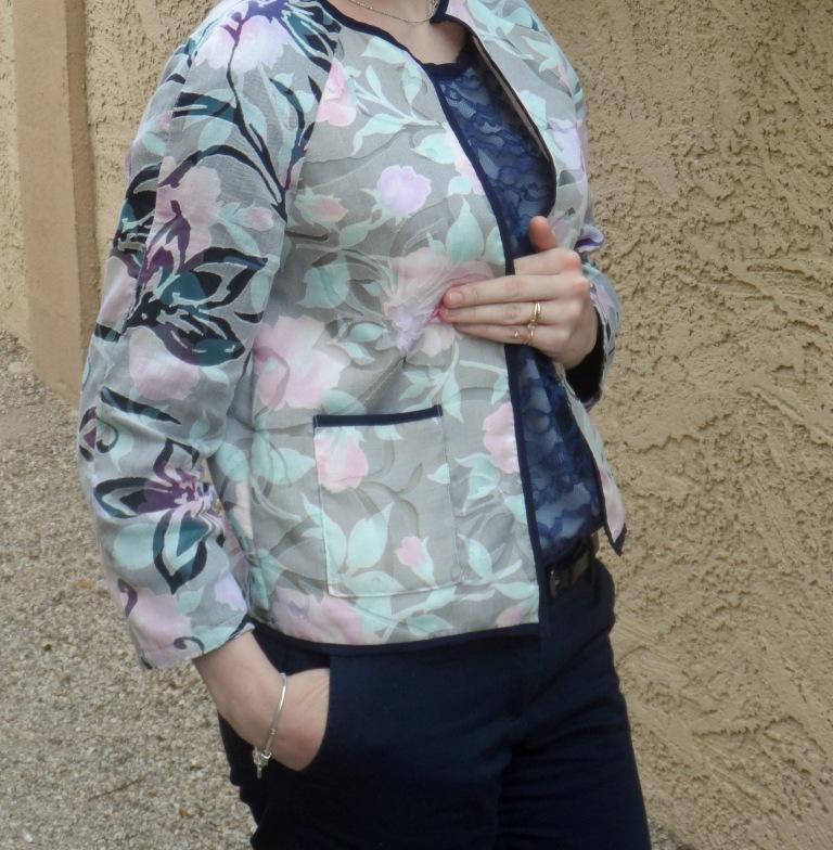Cropped jacket Burda SIDE POCKET