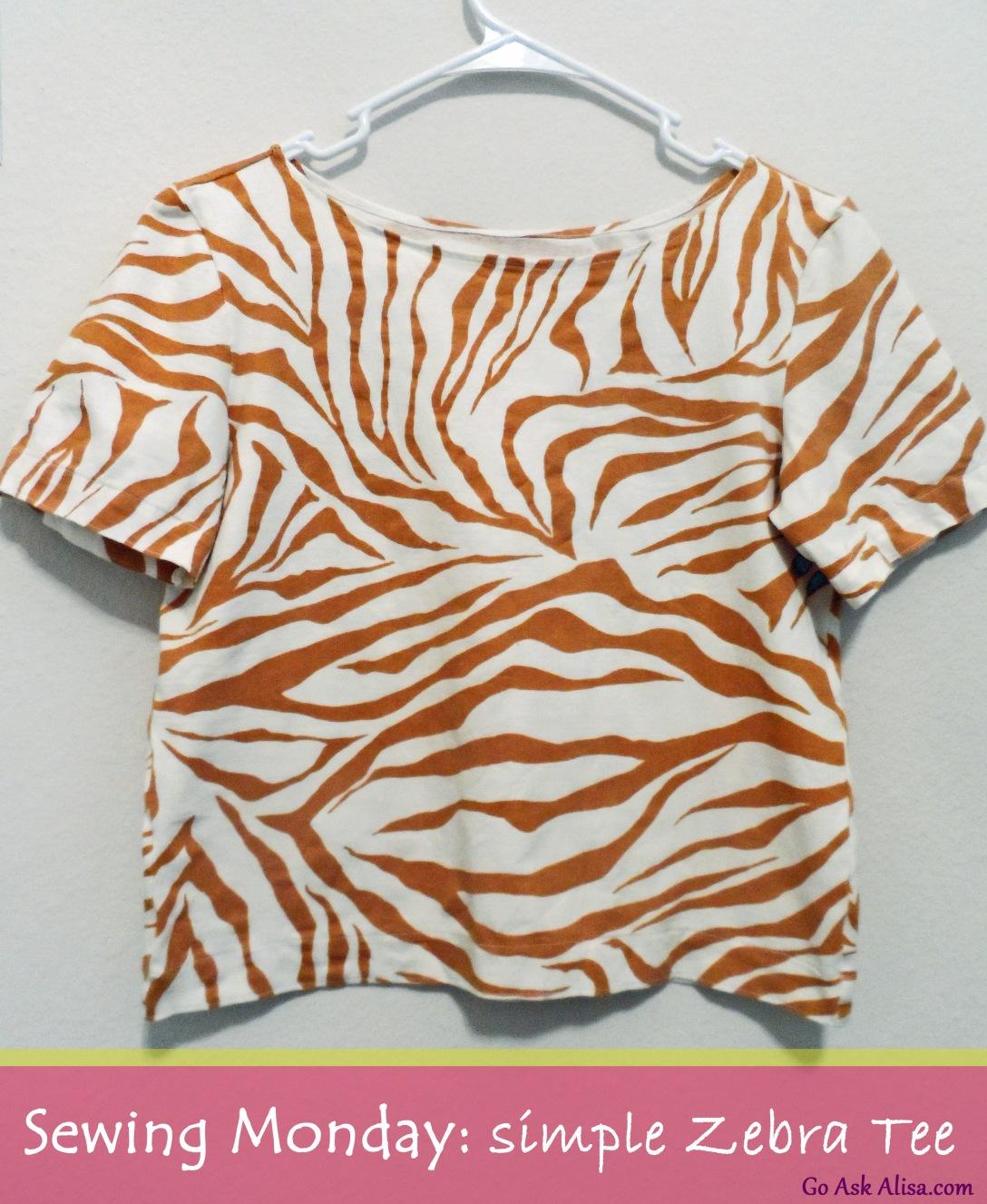 Zebra tee cover