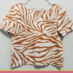 Sewing Monday: Z-z-zebra Tee