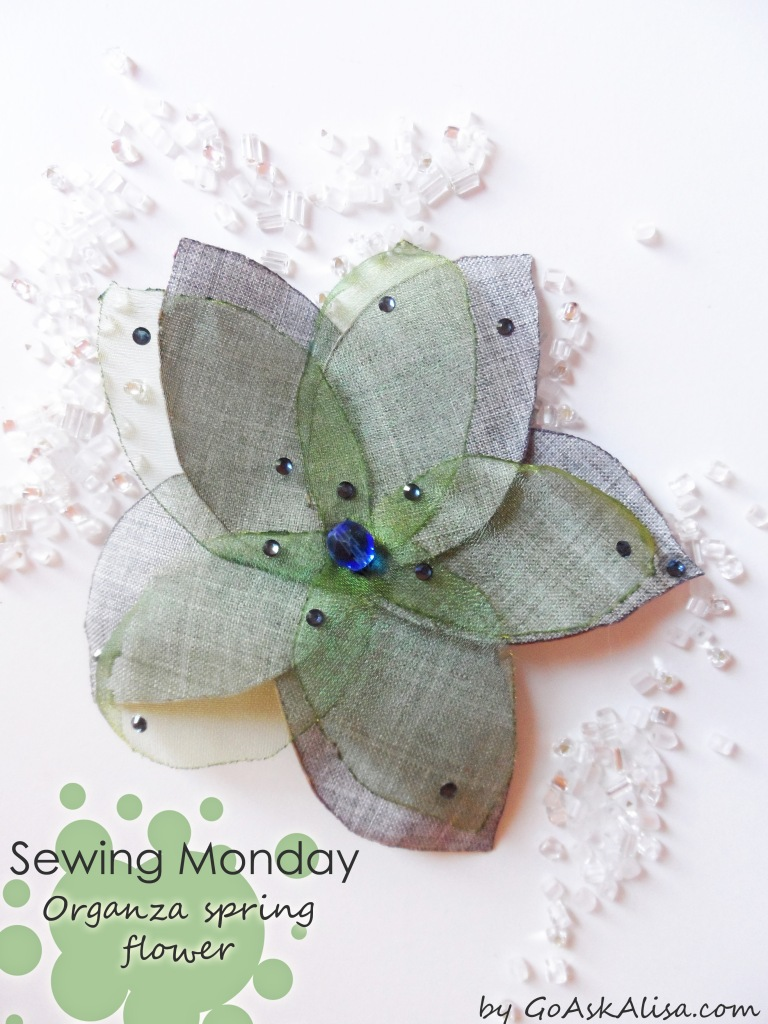 Organza spring flower cover