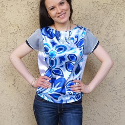 Abstract Floral Panel Tee with FREE pattern!