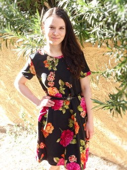 Simple shift dress with FREE pattern