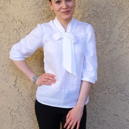 Day 17 of #MMMay'16 – FREE blouse pattern for work uniform