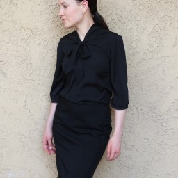 Day 9 of #MMMay with FREE bow blouse pattern and pencil skirt