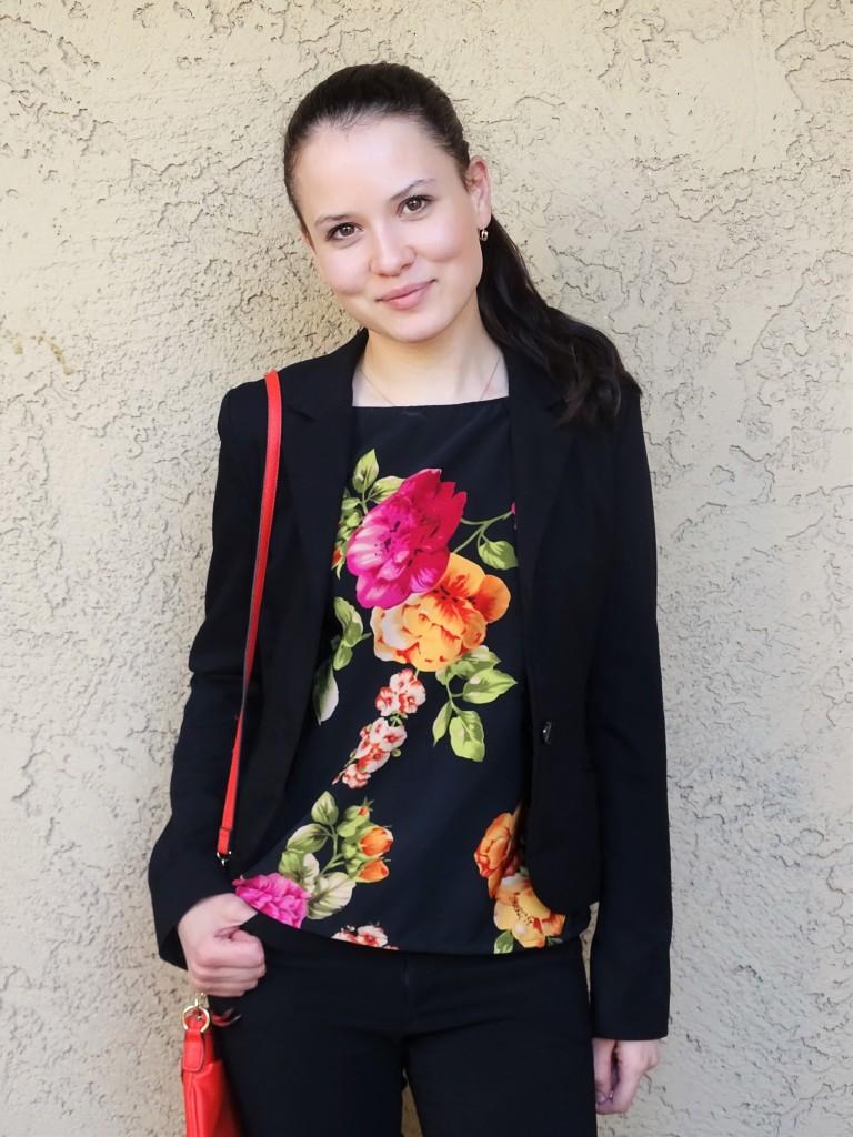 floral blouse jacket