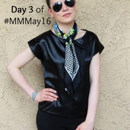 Day #3 – All in black with FREE kimono Tee pattern
