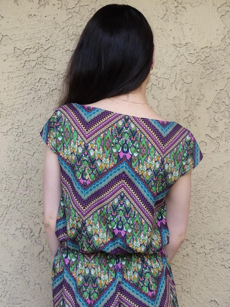 print dress back