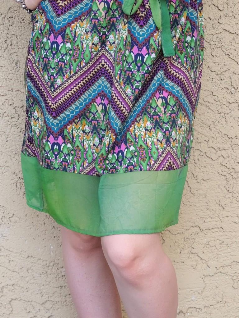Print dress bottom