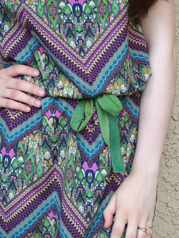 Print dress details