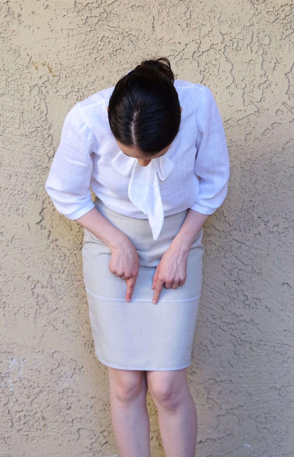 work outfit mmmay16 - pencil skirt and blouse